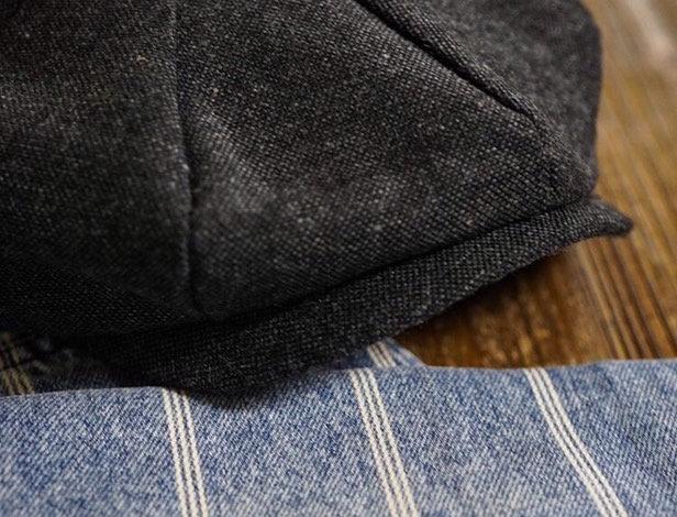 NEWSBOY CAP - ALPHA BLACK