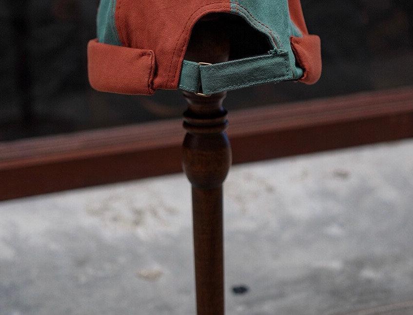TWIN SAILOR CAP - BRICK GREEN
