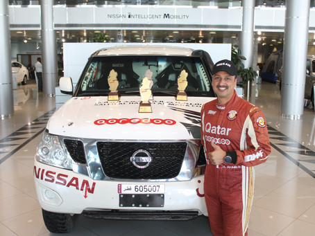 Saleh Al Hamad Al Mana Co. celebrates Qatari rally champion Adel Abdulla