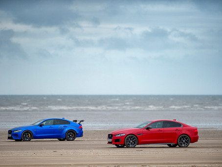 TWO CARS, ONE DNA: JAGUAR XE 300 SPORT AND SV PROJECT 8 CREATE 1000-METRE LONG DOUBLE HELIX