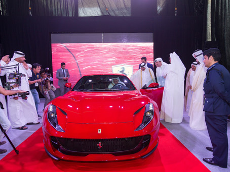 "Ferrari Qatar launches its most powerful production car ever ""812 Superfast"" at Qatar Motor Show 201"