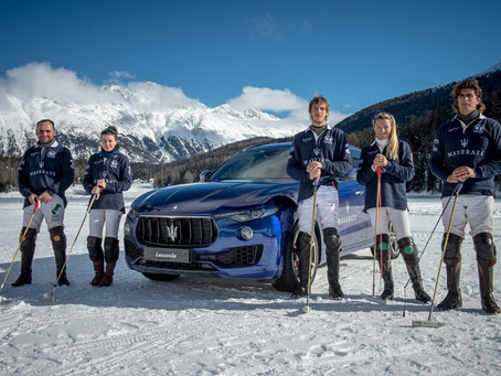 "The Maserati Polo Tour 2018 kicks off at the legendary  ""Snow Polo World Cup St. Moritz"" in collabor"