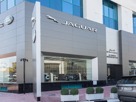 ALFARDAN PREMIER MOTORS' NEWLY REFURBISHED JAGUAR LAND ROVER SHOWROOM IN AL SADD AREA