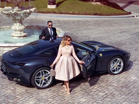 Ferrari Roma with H.E Oreste Del Rio & Maria Del Rio