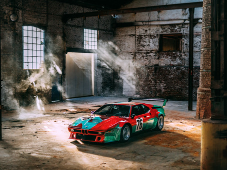 Photo shoot celebrating a special birthday: The BMW M1 Art Car by Andy Warhol.