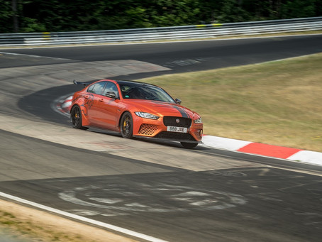 JAGUAR XE SV PROJECT 8, THE WORLD'S FASTEST SALOON CAR, BEATS ITS OWN NÜRBURGRING NORDSCHLEIFE RECOR