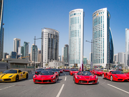 Ferrari Qatar leads 70th anniversary celebrations in the GCC with first-of-its-kind parade