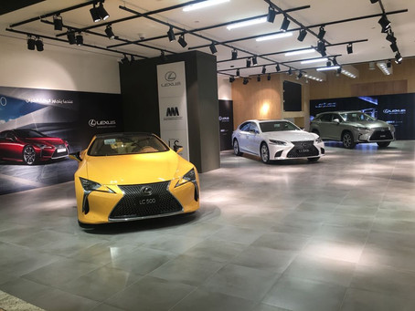 Abdullah Abdulghani & Bros. Co. display the latest models of Toyota & Lexus in their gallery
