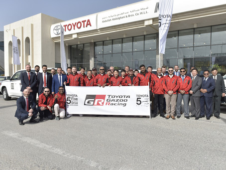 TOYOTA GAZOO Racing takes on Qatar's unique terrain as '5 Continents Drive' starts final sta