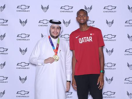 Chevrolet celebrates Mutaz Barshim's victorious win at the   2019 IAAF World Athletics Championships
