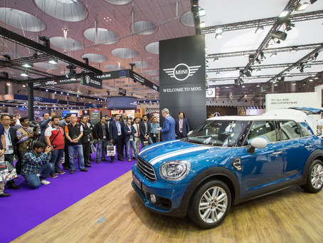 The all-new MINI Countryman delights crowds at the Qatar Motor Show