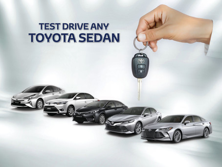 Test a Toyota Sedan and get a chance to win a week end accommodation in Marriot