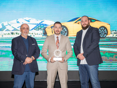 Lexus LC 500 receives Best Sport Coupe from Maqina & Arab Motors in the 2018 Qatar Car Awards.