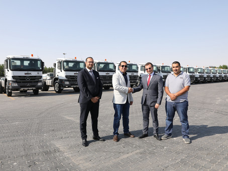 NBK Automobiles signs a deal to supply HBK Contracting with Mercedes-Benz Actros Heads