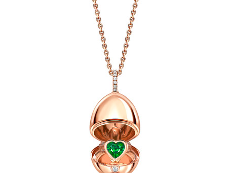 Fabergé launch rose gold egg pendants for the festive season