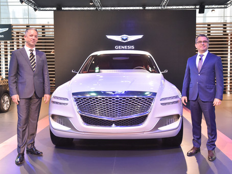 Skyline Automotive reveals its electric luxury SUV Concept, GV80, to the public at the Qatar Motor S