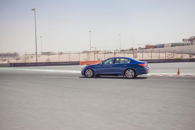 Red Fury, Driving the Infiniti Q50 Red Sport 400 in Dubai
