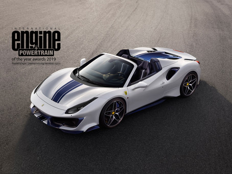 Ferrari's V8 takes its fourth consecutive   International Engine & Powertrain of the Year award