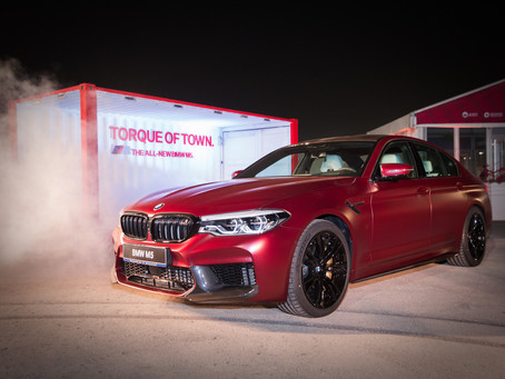 The new BMW M5 arrives in Qatar.
