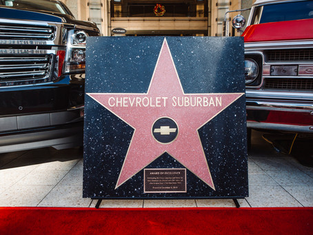 CHEVROLET SUBURBAN FIRST VEHICLE TO RECEIVE AWARD OF EXCELLENCE STAR AT HOLLYWOOD & HIGHLAND