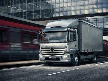 """Mercedes-Benz multi-purpose trucks """"Accello"""" and """"Atego"""".."""