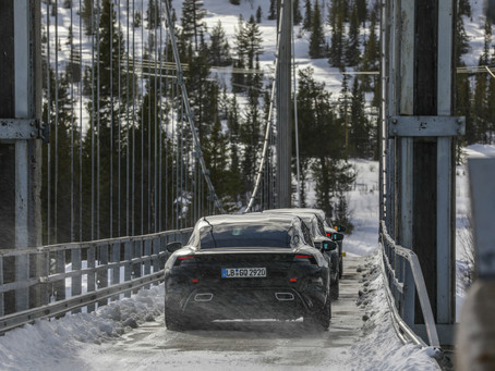 Testing of the new Porsche Taycan has entered the final stage