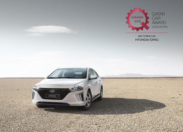 Hyundai IONIQ named Best Hybrid Car at the Qatar Car Awards