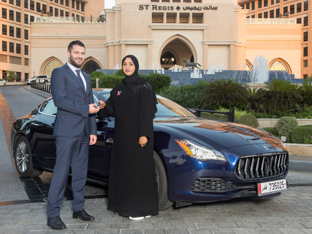 Alfardan Sports Motors and The St. Regis Doha honoured breast cancer survivor with luxurious weekend