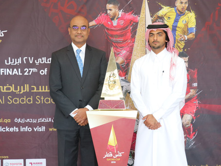 GRAND RECEPTION FOR THE QATAR CUP AT TOYOTA SHOWROOM