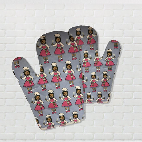 Goddess Food Factory Mittens – Multi Goddess