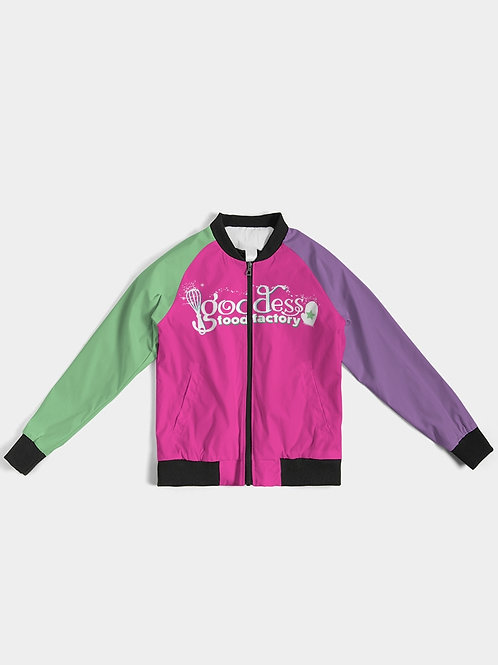 Goddess Food Factory Color Block Jacket - Green & Purple