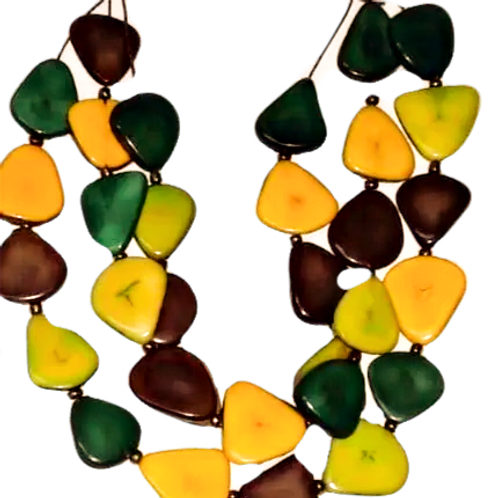 Triple Corazon (Heart) Tagua Necklace 2