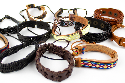 HANDMADE MEXICAN LEATHER BRACELETS