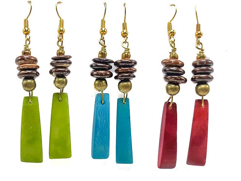 COCO TAGUA EARRINGS (2 INCHES)