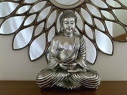 Solus B&B's Buddha and lotus mirror