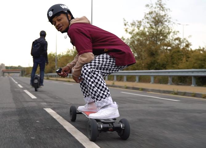 Electric skateboard in London