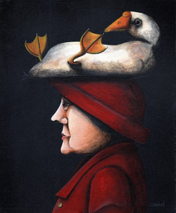 Woman with Goose on Head