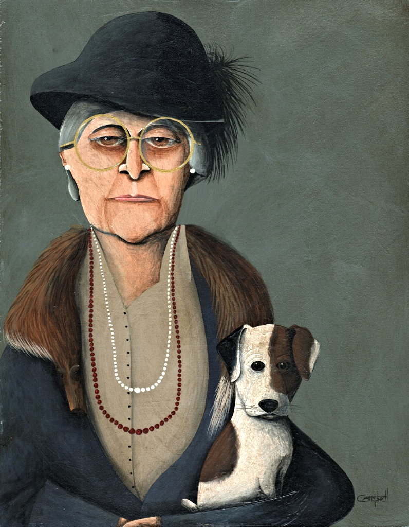 Women with Jack Russell