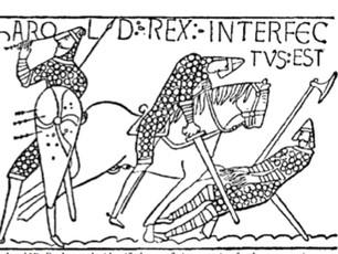 How did King Harold actually die at Hastings?