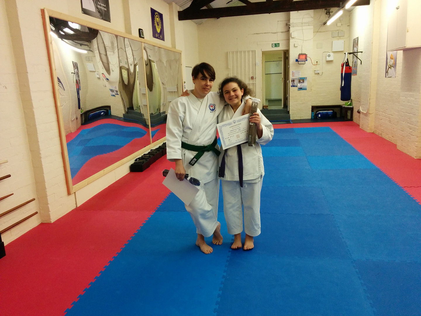 Grading success with Sensei Megan