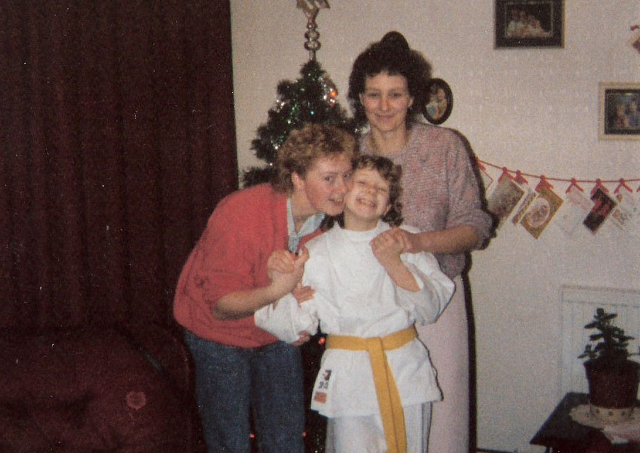 Sensei Becky in the 80's (Pictured with Mom and Sister)