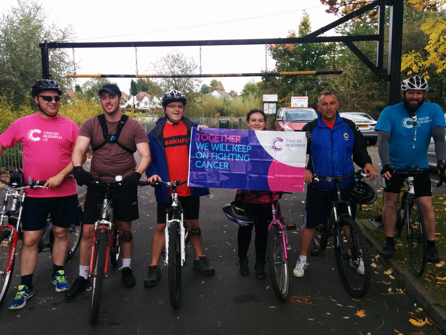 Charity bike ride for Cancer Research UK  2017