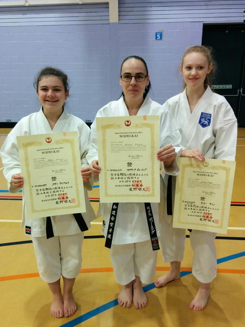 1st Dan certificate