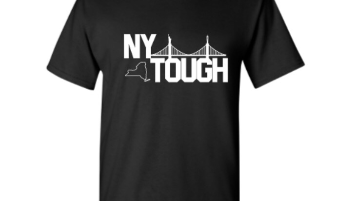 NY Tough black unisex t shirt