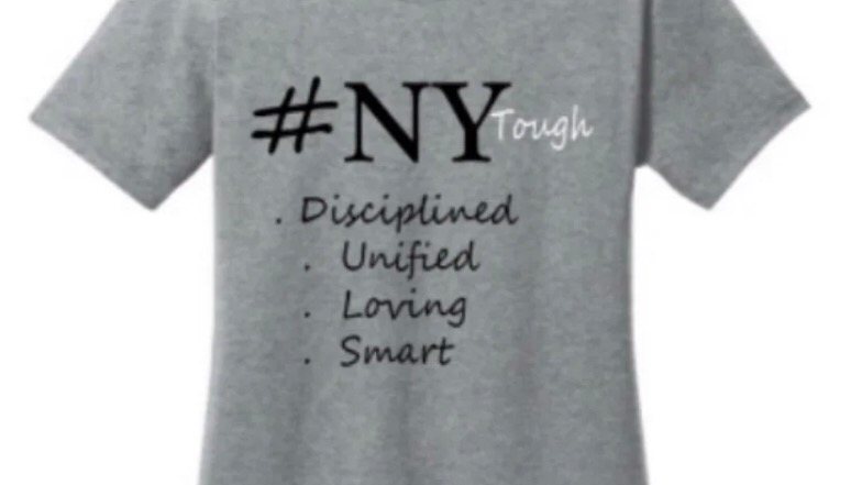 NY Tough charcoal grey t shirt women's