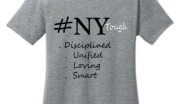 NY Tough charcoal grey t shirt women's