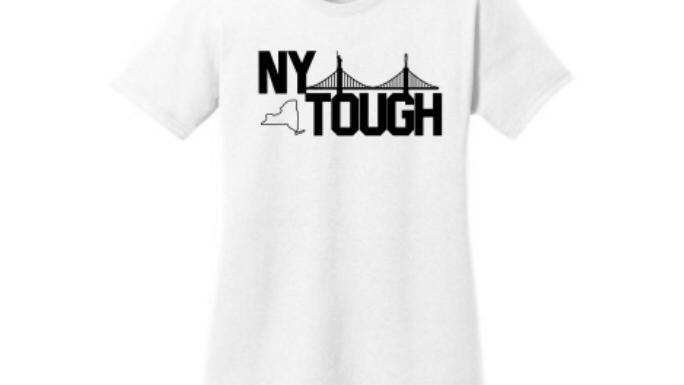 NY Tough women white t shirt