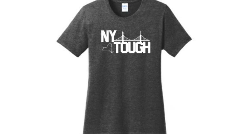 NY Tough black t shirt for women