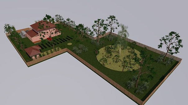 Проект участка с автономным садом