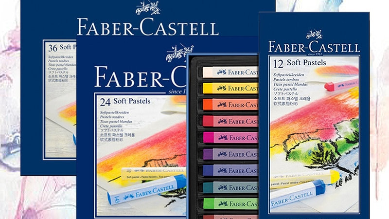 Faber-Castell Pastel Stick 12/24/36/48/72 Colors Dyed Chalk for Professionals
